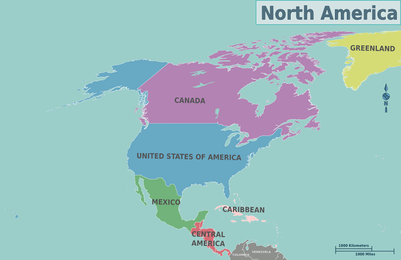 châu mỹ gồm những nước nào